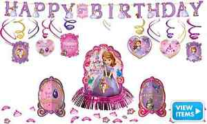 Sofia The First Birthday Decorations *