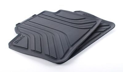 BMW Genuine All Weather Rubber Floor Mats Set Rear F30F31F36 51472219802