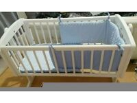 White Swaying Crib
