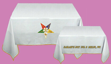 Altar cloth Table Cloth With The Masonic Order of Eastern Star OES