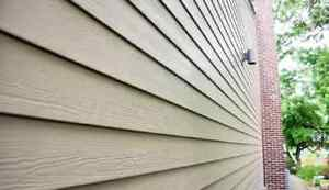 Vinyl siding for shed