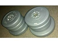 York Weight Plates, Barbell, Dumbbell, 2.5kg and 5kg, 25kg total, 1""