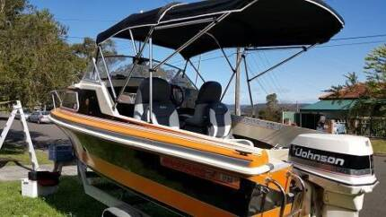 Mustang 1700, 5 metre fibre glass half cabin Engadine Sutherland Area Preview