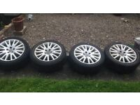 "Set of 17"" Audi alloys"