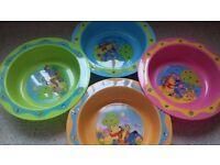 BRAND NEW! Winnie the pooh microwave safe feeding Bowls