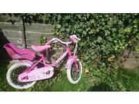 Girls 14 inch wheel, bike in EUC with limited signs of wear