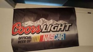 FLAG COORS LIGHT Official Beer Of NASCAR flag,bucket, decals