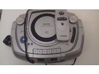 Portable cd player, cassette radio. Works fine! Includes remote control.