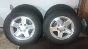 **215/70-R16 next to new + alloy rims**