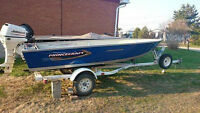 2009 16' Princecraft, 25 HP 4-Stroke Motor & Trailer