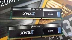 Corsair 8 GB,( 2X4) PC3-10600 (DDR3-1333), NEW RAM CMX8GX3M2A1333C9