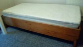 2 Single Pine Beds with Mattresses