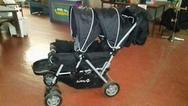 Mothercare Twin buggy with cosy toes
