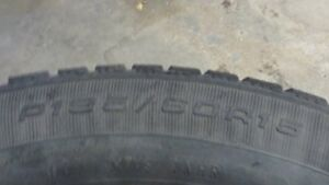 15 inch steel rims with Good Year winter tires on them $150 Strathcona County Edmonton Area image 3