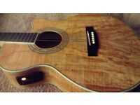 Chord Electro Acoustic Guitar with Spalt Maple Vaneer