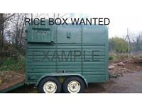 RICE Trailer Wanted (Double Horse Box)