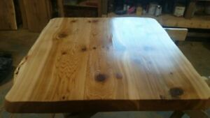 REDUCED PRICE! Hand crafted Cedar tables