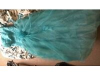 Baby blue prom dress size 8
