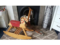 Wooden Rocking Horse and Scooter
