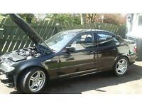 BMW E46 2004 318i 2.0 16V BLACK 668/9 N/S PASSENGER'S SIDE FRONT DOOR BARE ONLY M SPORT