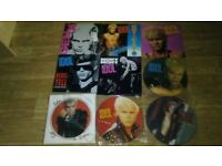 23 x billy idol vinyl collection LP's / 12 inch / 7 inch / picture disc