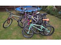 Job lot of seven bikes