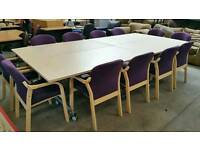 Foldaway boardroom table with 12 chairs