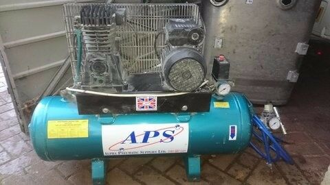 50Lt air compressor. Rednal pneumatics. 2hp belt driven