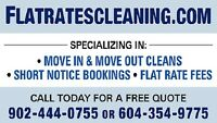 Flat Rates Cleaning *move in/out,weekly,same day,short notice