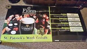 Guiness Draught Beer Banner Sign for sale