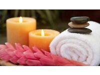 Massage with blond masseuse