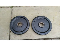 Unbranded pair of 10kg Weight Plates