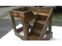handmade solid wood dog bed