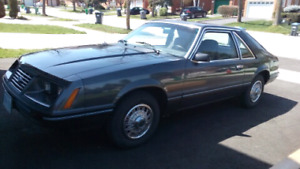 1984 Mustang V6 41000 original kms! Immaculate!