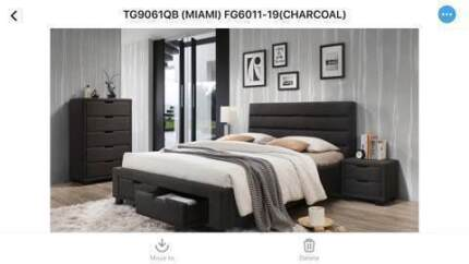 Range of Queen Quality Fabric Bed Frames from $295