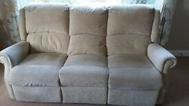 3 seater electric recliner sofa and 1 chair (not reclining)