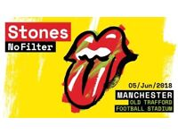 Rolling Stones Concert Tickets - Old Trafford - 05/06/2018 - 2 tickets @ £162 each
