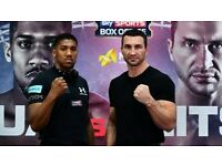 4 x Anthony Joshua Vs Wladimir Klitschko Tickets FOR SALE - MIDDLE TIER