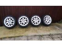 Genuine GT BBS alloy wheels they will fit any 5 sutud cars and vans