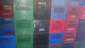 Milk Crates-strong/stackable,11x11x12,black/green, Not4LP record