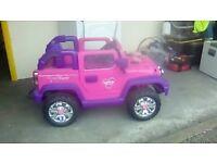Kids remote control jeep