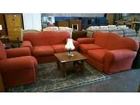 3 seater, 2 seater and armchair suite