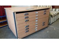 Art storage drawers