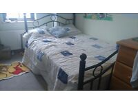 Cast Iron Double Bed and mattress