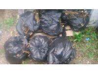 6 Bags of kindling wood