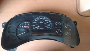 2003-2006 GM speedometer gauge cluster with white needles