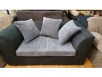 sofa for sale, 3 sitter and 2 sitter available now into our store in white chapel. mixed colour grey