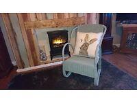 lloyd loom art deco chair