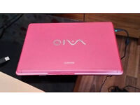 pink laptop Sony VAIO
