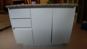 "Kitchen Island on castors with granite top 48"" x 33"""